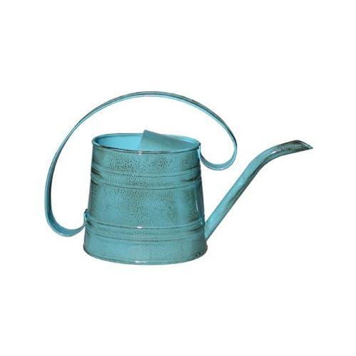 ROBERT ALLEN MPT01505 Danbury Metal Watering Can, Surf Light Blue