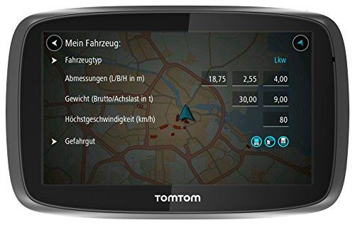 TomTom-Trucker-6000-LKW-Navigationsgert-15-cm-6-Zoll-kapazitives-Touch-Display-Sprachsteuerung-ClickGo-Halterung-TrafficLifetime-LKW-Karten-schwarz