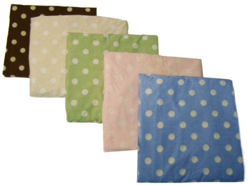 NoJo 2 Pack Dot Changing Table Cover - Sage withIvory Dots