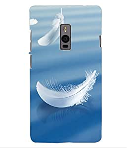 ColourCraft Feathers Design Back Case Cover for ONEPLUS TWO