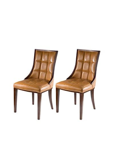 International Design 5th Ave Set of 2 Dining Chairs, Cedar