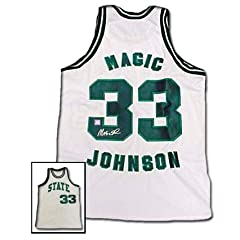 Magic Johnson Autographed Hand Signed Authentic Michigan State Basketball Jersey