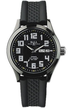 Ball NM2020C-PA-BKYE Watch DLC Mens - Black Dial Stainless Steel Case Automatic Movement