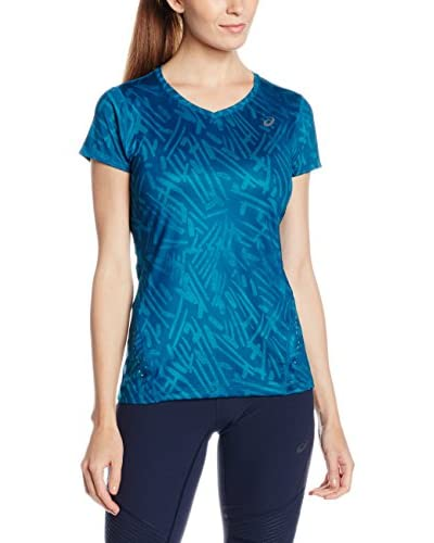 Asics T-Shirt Manica Corta Allover Graphic Top Ss