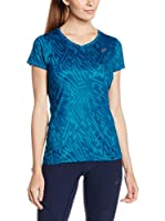 Asics Camiseta Manga Corta Allover Graphic Top Ss (Azul)
