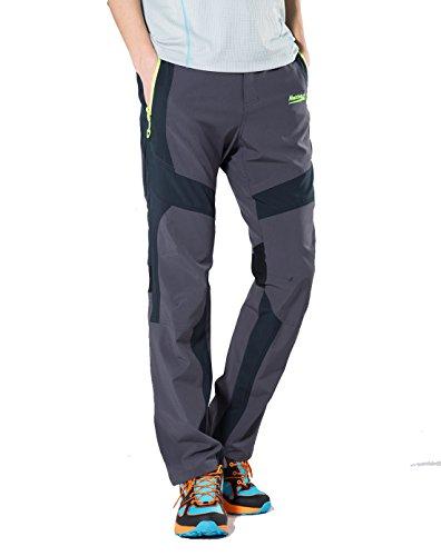 Makino Men's Quick Dry Hiking Pants M131611015 Dark Gray US Small(Asian L) (Travel Rain Pants compare prices)