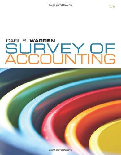 Survey of Accounting (Available Titles CengageNOW)