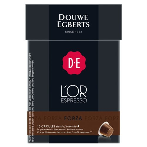 acheter douwe egberts l or espresso forza 10 capsules compatibles avec machines nespresso. Black Bedroom Furniture Sets. Home Design Ideas