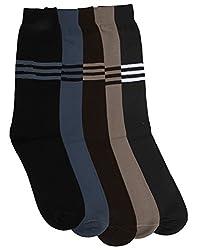 Mikado Multi Colour Full Lenght Socks for Men - 5 Pair Pack