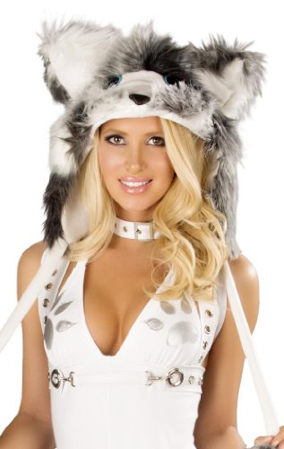 J Valentine Women's Faux Fur Hood for Husky Sexy Halloween Costume