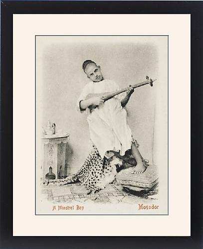 Framed Print Of Minstrel Boy, Essaouira (Mogador), Morocco