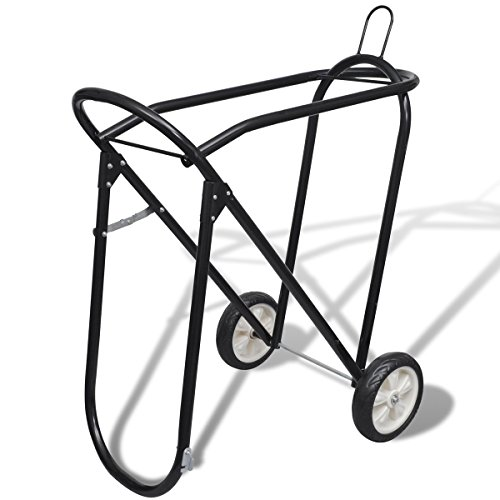 metal-foldable-saddle-rack-with-wheels
