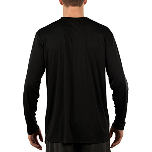 Vapor Apparel Men's UPF Long Sleeve Solar Performance T-Shirt Large Black