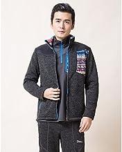 DEEKO Men39s Outdoor Keep Warm Fleece Jacket D418M - Dark Gray - M