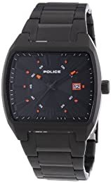 Police District Men's Quartz Watch with Black Dial Analogue Display and Black Stainless Steel Bracelet 13407JSB/02M