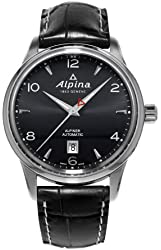 Alpina Alpiner Automatic Black Dial Black Leather Mens Watch AL-525B4E6
