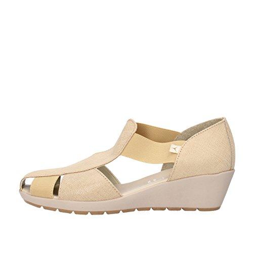 CINZIA SOFT sandali donna beige camoscio tessuto (39 EU)