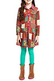 2 Piece Patch Dress & Leggings Outfit [T77-6846D-Z]