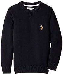 US Polo Association Boys' Sweater (UKSW5224_Black_S)