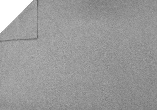 La Linen Polar Fleece Fabric, 2.5-Yard By 58-Inch, Heather Gray front-1024935