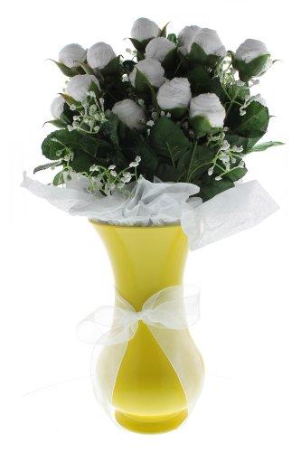 Neutral Large Bootie Bloom - White Socks - Yellow Vase