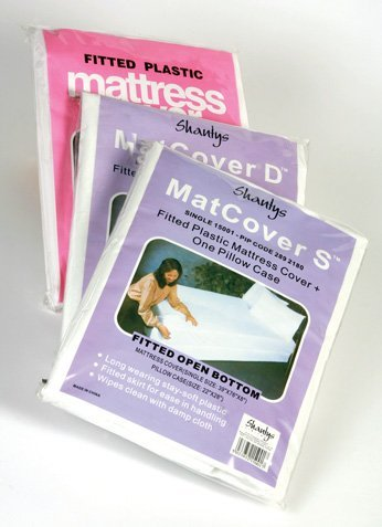 Mattress Cover With Pillow Cases Waterproof PVC Sheet Incontinence Aid Single