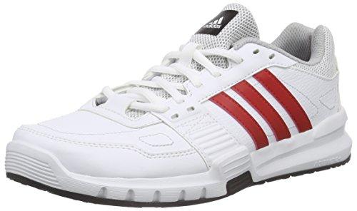 adidas Essential Star 2, Scarpe fitness uomo, Bianco (Weiß (White/Scarlet/Black)), 45 1/3