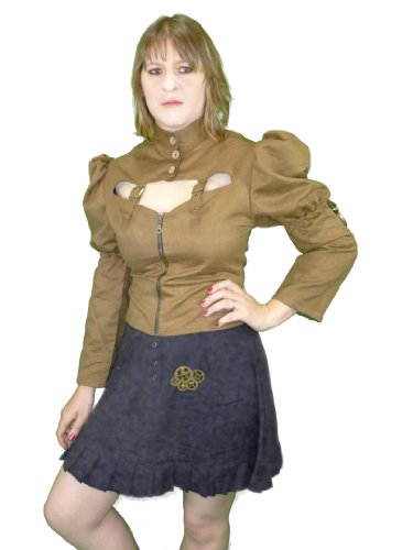 Moire Steampunk Tie-Back Blouse (Medium)