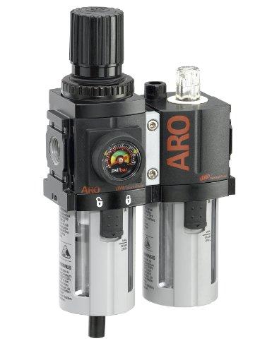 Ingersoll Rand C38231-600-Vs 3/8-Inch Filter-Regulator-Lubricator Combination, Black/Gray front-268765