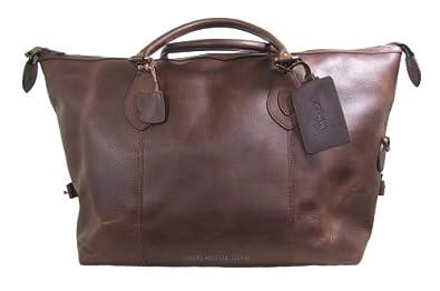c0f1ecaa6a GET DISCOUNT Barbour Leather Medium Travel Explorer Bag - Dark Brown  UBA0008BR71 (B623) NOW