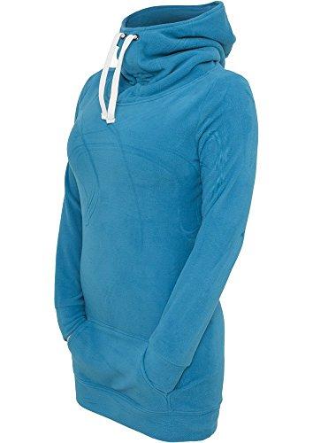 Urban Classics Ladies Long Polar Hoody, Color:turquoise;Größe:M