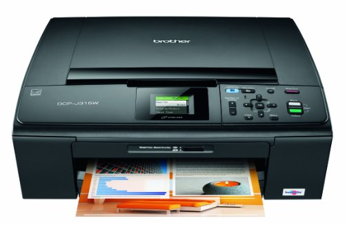 Brother DCP-J315W Wireless Colour Inkjet Multifunction Printer with Media Card Centre
