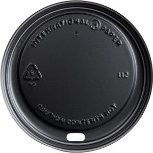 international-paper-lhrdsb16-polystrene-dome-sipper-hot-cup-lid-10-ounce-to-24-ounce-black-12-packs-