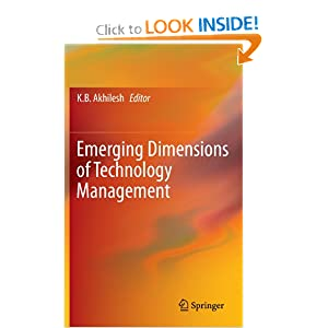 Emerging Dimensions of Technology Management e-book