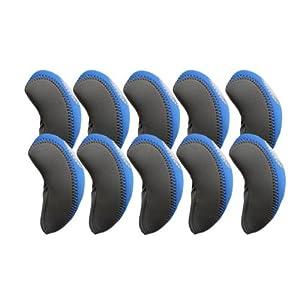 Elixir Golf Iron Club Head Covers-Set of 10, Gray/Blue