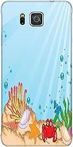 Snoogg Cartoon Aquarium Vector Illustration Protective Case Cover For Samsung...