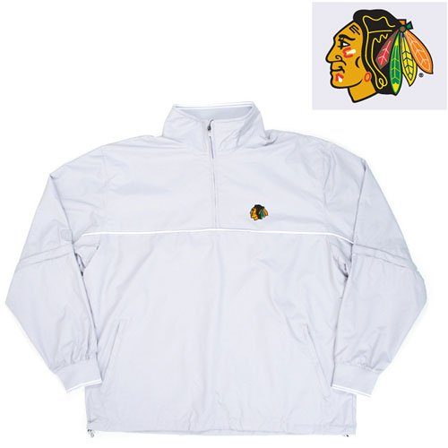"Buy Chicago Blackhawks NHL ""Omni"" Pullover Windshirt (Silver)"