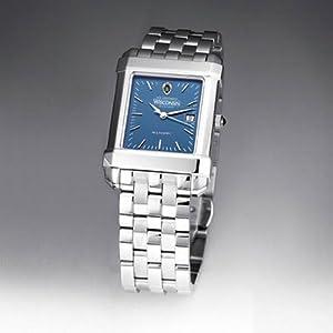 University of Wisconsin Mens Swiss Watch - Blue Quad Watch with Bracelet by M.LaHart & Co.