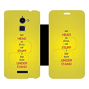 Phone Candy Designer Flip Cover with hi-res printed Vinyl sticker wrap-around for Coolpad Note 3 Lite