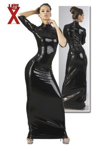 Latex Dress black XXL
