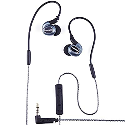 SOLEMEMO Wired Sports Noise Isolating In-Ear Microphone Stereo Bass Headphones with Memory Wire