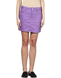 Upperclass Women's Skirt (8903862957159_Purple_26)