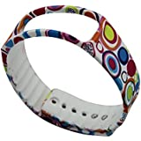 Replacement Band For Samsung Galaxy Gear Fit Gear Fit Band Flower-003 Color Circle