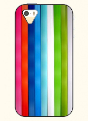 Oofit Phone Case Design With Colorful Stripes For Apple Iphone 4 4S 4G front-1008221