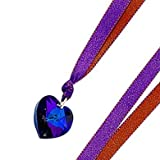 Swarovski Heart on Ribbon Necklaceby Kleshna