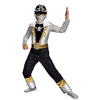 Disguise Saban Super MegaForce Power Rangers Special Ranger Silver Classic Boys Costume, Small/4 6