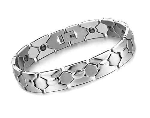 Tungsten Love Stylish Men's Magnetic Health Germanium Stone Titanium Stainless Steel Bracelet Mens Gifts
