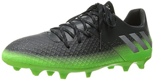 adidas Performance Men's Messi 16.2 FG Soccer Shoe,Dark Grey/Metallic Silver/Neon Green,13 M US (Neon Green Football Cleats compare prices)
