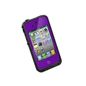 LifeProof FRE iPhone 4/4s Waterproof Case - Retail Packaging - PURPLE/BLACK