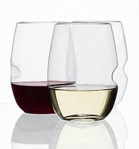 GoVino Wine Glass Flexible Shatterproof Recyclable, Set of 8 by Govino